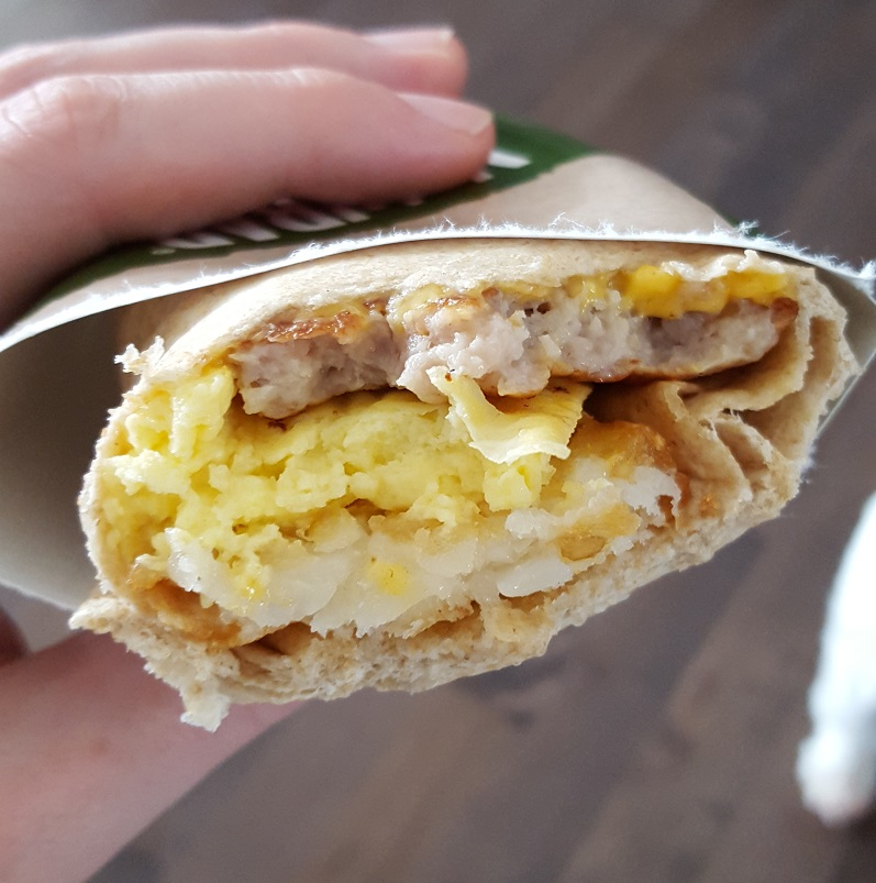 Sausage McWrap Half
