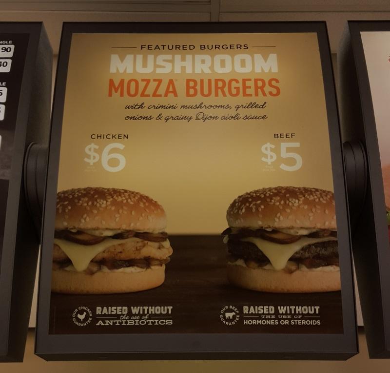 AW Mushroom Mozza Sign