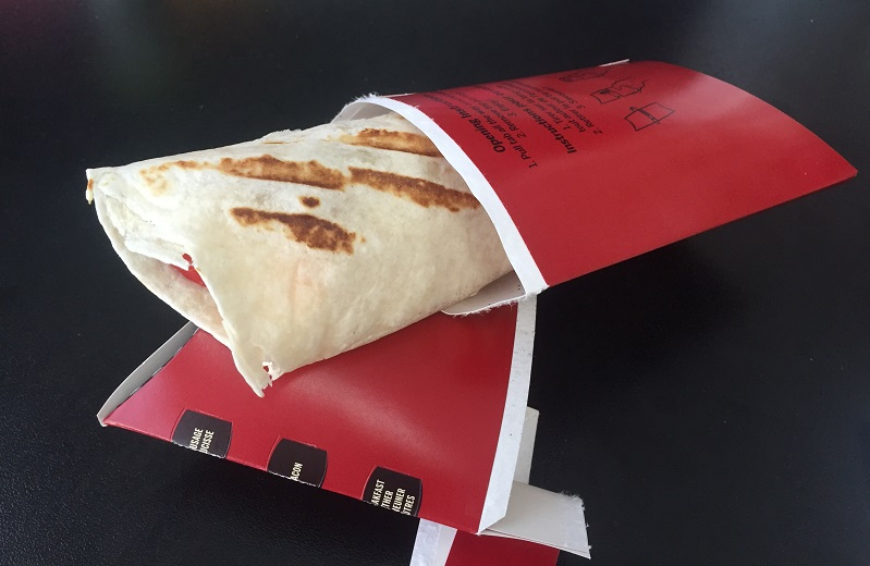 Double Review: Tim Horton's Sausage or Bacon Grilled Breakfast Wrap
