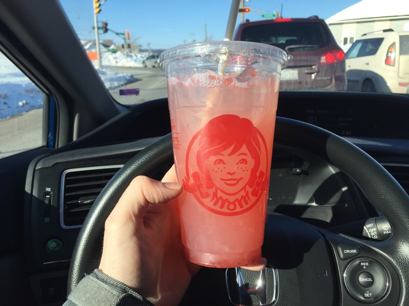 Review:  Wendy's Strawberry Lemonade