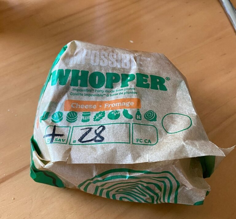 Impossible Whopper in wrapper