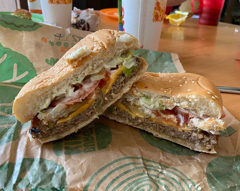 Impossible Whopper cross section