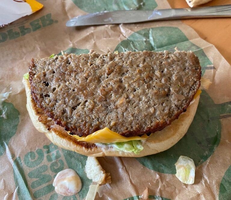 Impossible Whopper patty